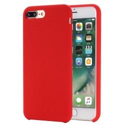 iPhone 8 Plus / 7 Plus Coque en silicone liquide Flexible Pure Series - Rouge
