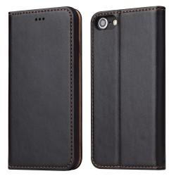 iPhone 7 / 8 Etui Portefeuille en Cuir - Noir