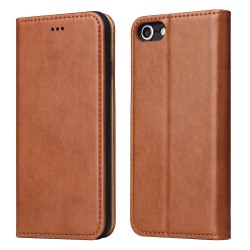 iPhone 7 / 8 Wallet Leather Case - Brown