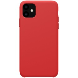 iPhone 11 Coque en silicone liquide Flexible - Rouge