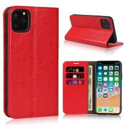 iPhone 11 Pro Max Blue Moon Wallet Leather Case - Red