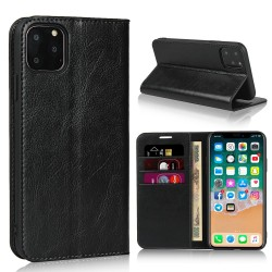 iPhone 11 Pro Max Blue Moon Wallet Leather Case - Black