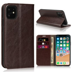 iPhone 11 Blue Moon Wallet Leather Case - Brown