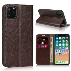 iPhone 11 Pro Etui Portefeuille en Cuir Blue Moon - Marron