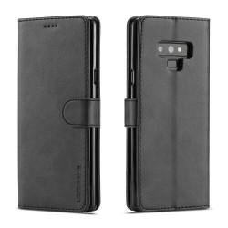 Samsung Galaxy Note 9 Wallet Stand Leather Protective Case - Black