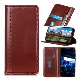 Samsung Galaxy S10 Plus Etui Portefeuille en cuir - Marron