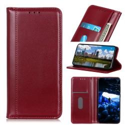 Samsung Galaxy S10 Etui Portefeuille en cuir - Rouge