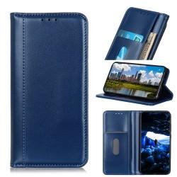 Samsung Galaxy S10 Etui Portefeuille en cuir - Bleu