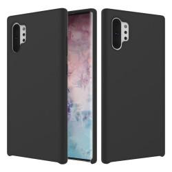 Samsung Galaxy Note 10 Plus Coque souple en silicone liquide - Noir