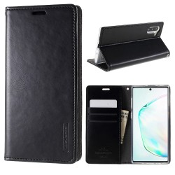 Samsung Galaxy Note 10 Etui Portefeuille en cuir - Noir