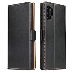 Samsung Galaxy Note 10 Plus Leather Wallet Case - Black