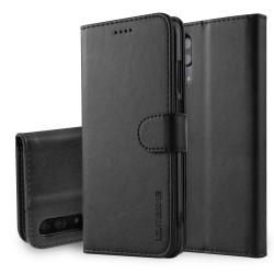 Huawei P20 Etui Portefeuille en cuir - Noir