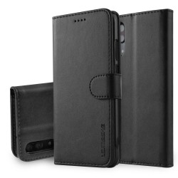 Huawei P20 Leather Wallet Case - Black