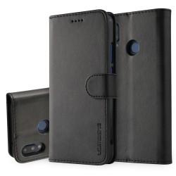 Huawei P20 Lite Etui Portefeuille en cuir - Noir