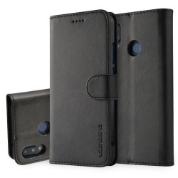 Huawei P20 Lite Leather Wallet Case - Black