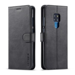 Huawei Mate 20 Leather Wallet Case - Black