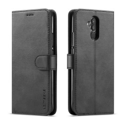 Huawei Mate 20 Lite Leather Wallet Case - Black