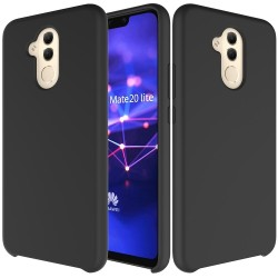 Huawei Mate 20 Lite Soft Liquid Silicone Shell Case - Black