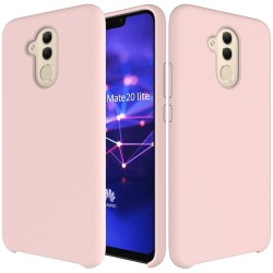 Huawei Mate 20 Lite Soft Liquid Silicone Shell Case - Pink