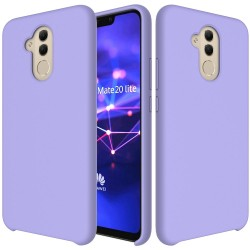 Huawei Mate 20 Lite Soft Liquid Silicone Shell Case - Purple