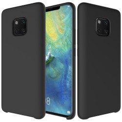 Huawei Mate 20 Pro Soft Liquid Silicone Shell Case - Black