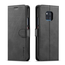 Huawei Mate 20 Pro Leather Wallet Case - Black