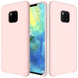 Huawei Mate 20 Pro Soft Liquid Silicone Shell Case - Pink