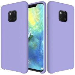 Huawei Mate 20 Pro Soft Liquid Silicone Shell Case - Purple