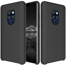 Huawei Mate 20 Soft Liquid Silicone Shell Case - Black