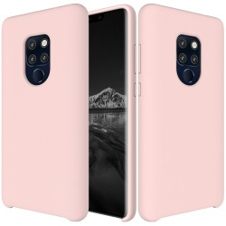 Huawei Mate 20 Soft Liquid Silicone Shell Case - Pink