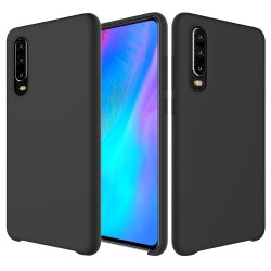 Huawei P30 Soft Liquid Silicone Shell Case - Black