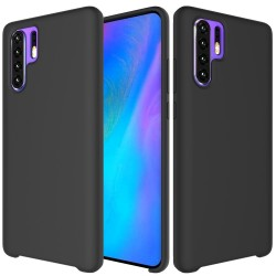 Huawei P30 Pro Soft Liquid Silicone Shell Case - Black