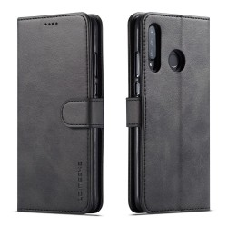 Huawei P30 Lite Leather Wallet Case - Black