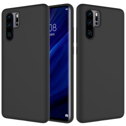 Huawei P30 Pro Soft Liquid Silicone Protective Case - Black