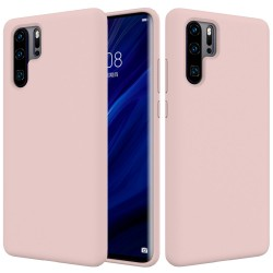 Huawei P30 Pro Coque Protectrice souple en silicone liquide - Rose