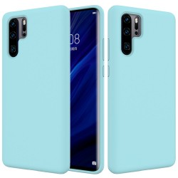 Huawei P30 Pro Soft Liquid Silicone Protective Case - Cyan