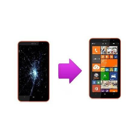 Lcd and Touch Screen replacement Nokia Lumia 1320