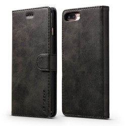 Blue Moon for iPhone 7 Plus 8 Plus Wallet Leather Case - Black