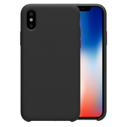 iPhone X XS Étui en silicone liquide Flexible Pure Series - Noir