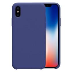 iPhone X XS Coque en silicone liquide Flexible Pure Series - Bleu