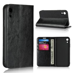 iPhone XR Blue Moon Wallet Leather Case - Black