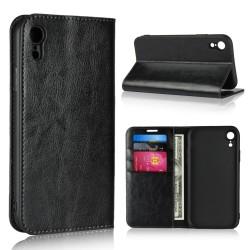 iPhone XR Etui Portefeuille en Cuir Blue Moon - Noir