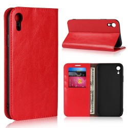 iPhone XR Blue Moon Wallet Leather Case - Red