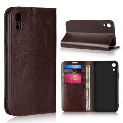 iPhone XR Blue Moon Wallet Leather Case - Brown