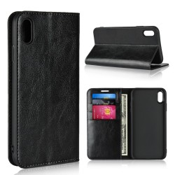 iPhone XS Max Blue Moon Wallet Leather Case - Black