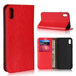 iPhone XS Max Blue Moon Wallet Leather Case - Red