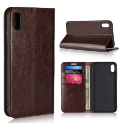 iPhone XS Max Blue Moon Wallet Leather Case - Brown